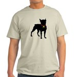 Christmas or Holiday Boston Terrier Silhouette Lig