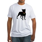 Christmas or Holiday Boston Terrier Silhouette Fit