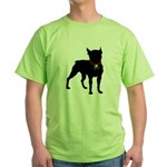 Christmas or Holiday Boston Terrier Silhouette Gre