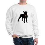 Christmas or Holiday Boston Terrier Silhouette Swe