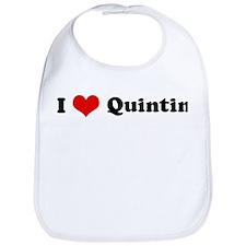 I Love Quintin Bib
