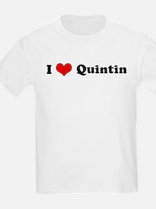I Love Quintin Kids T-Shirt