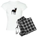 Christmas or Holiday Bull Terrier Silhouette Women