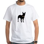 Christmas or Holiday Bull Terrier Silhouette White