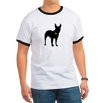 Christmas or Holiday Bull Terrier Silhouette Ringe