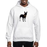 Christmas or Holiday Bull Terrier Silhouette Hoode