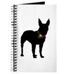 Christmas or Holiday Bull Terrier Silhouette Journ