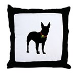 Christmas or Holiday Bull Terrier Silhouette Throw