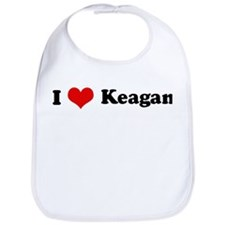 I Love Keagan Bib