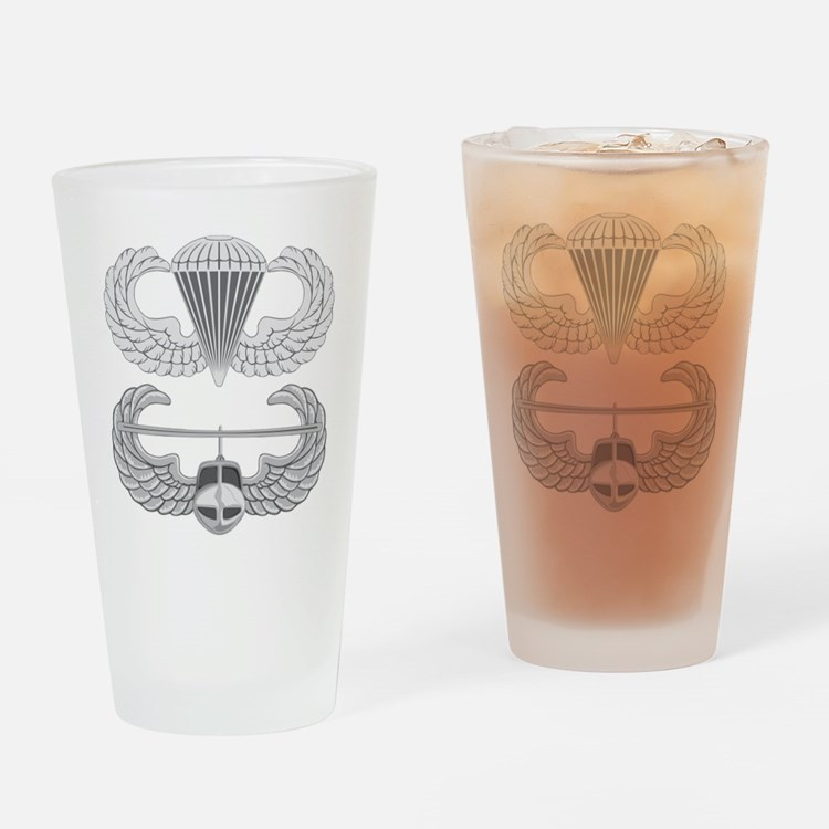 Airborne and Air Assault Drinking Glass