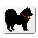 Christmas or Holiday Chow Chow Silhouette Mousepad