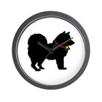 Christmas or Holiday Chow Chow Silhouette Wall Clo