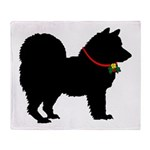 Christmas or Holiday Chow Chow Silhouette Stadium