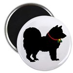 Christmas or Holiday Chow Chow Silhouette Magnet