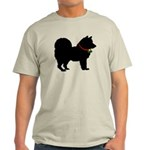 Christmas or Holiday Chow Chow Silhouette Light T-