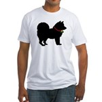 Christmas or Holiday Chow Chow Silhouette Fitted T