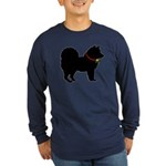 Christmas or Holiday Chow Chow Silhouette Long Sle