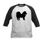 Christmas or Holiday Chow Chow Silhouette Kids Bas