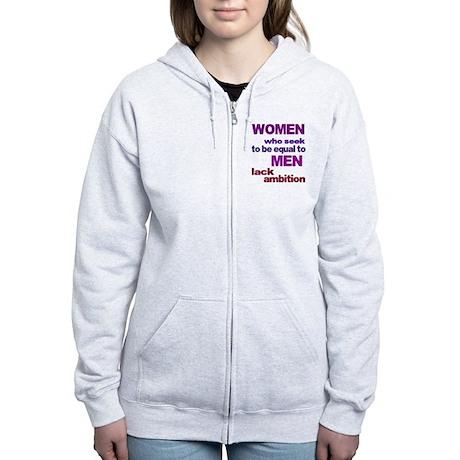 Women Equal Men Women's Zip Hoodie