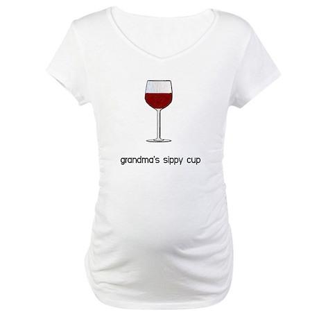Grandma's Sippy Cup Maternity T-Shirt