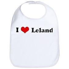 I Love Leland Bib