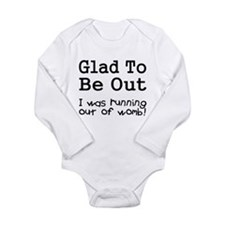 Running Out of Womb Long Sleeve Infant Bodysuit