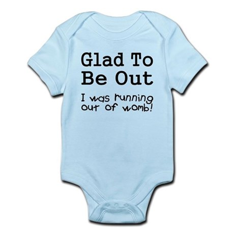CafePress Running Out of Womb Infant Bodysuit