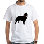 Christmas or Holiday Collie Silhouette White T-Shi