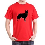 Christmas or Holiday Collie Silhouette Dark T-Shir