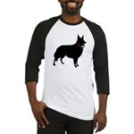 Christmas or Holiday Collie Silhouette Baseball Je