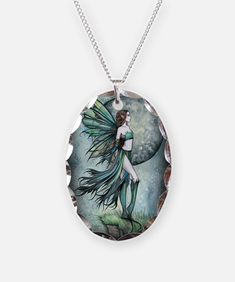 Fearless Fairy Necklace Oval Charm