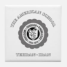 Funny Tehran american school Tile Coaster