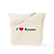 I Love Kason Tote Bag