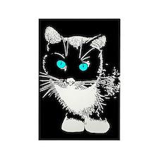 Blue Eyed Cat Rectangle Magnet (100 pack)