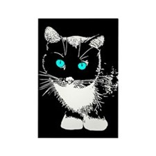 Blue Eyed Cat Rectangle Magnet