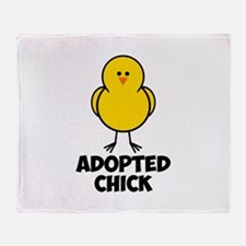 Adopted Chick Throw Blanket