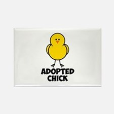 Adopted Chick Rectangle Magnet