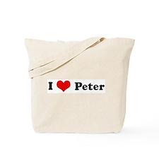 I Love Peter Tote Bag