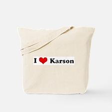 I Love Karson Tote Bag