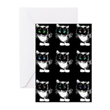 Bright Eyed Cats Greeting Cards (Pk of 20)