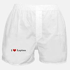 I Love Layton Boxer Shorts