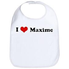 I Love Maximo Bib