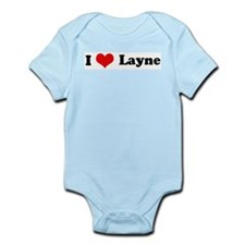 I Love Layne Infant Creeper