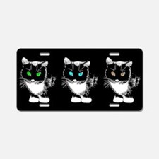 Bright Eyed Cats Aluminum License Plate