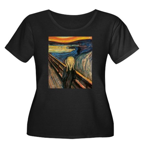 The Scream Women's Plus Size Scoop Neck Dark T-Shi