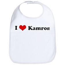 I Love Kamron Bib