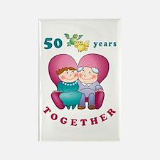 Happy Couple Rectangle Magnet