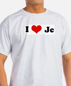 I Love Jc Ash Grey T-Shirt