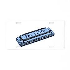 The Blues Harp Aluminum License Plate