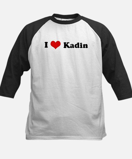 I Love Kadin Kids Baseball Jersey
